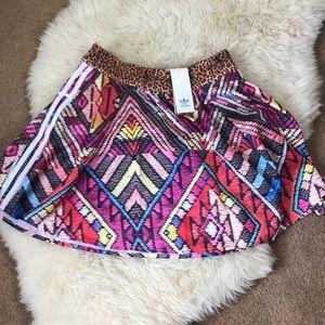 Adidas Brazil Print Flare Skirt NWT Size Small